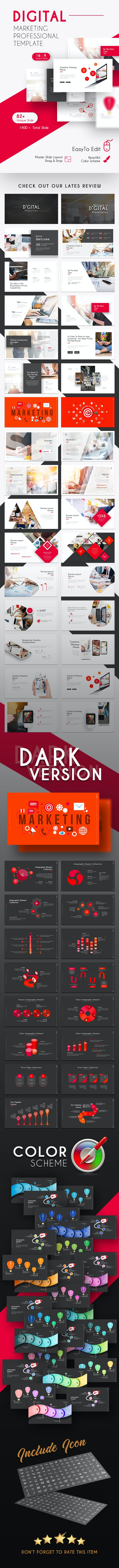 Digital Marketing Professional Presentation Template - PowerPoint Templates Presentation Templates