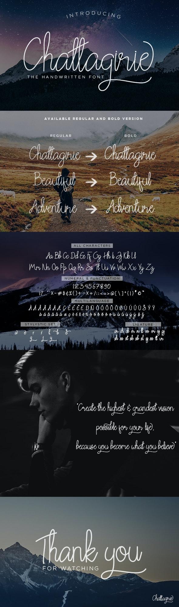 Chattagirie Script - Hand-writing Script
