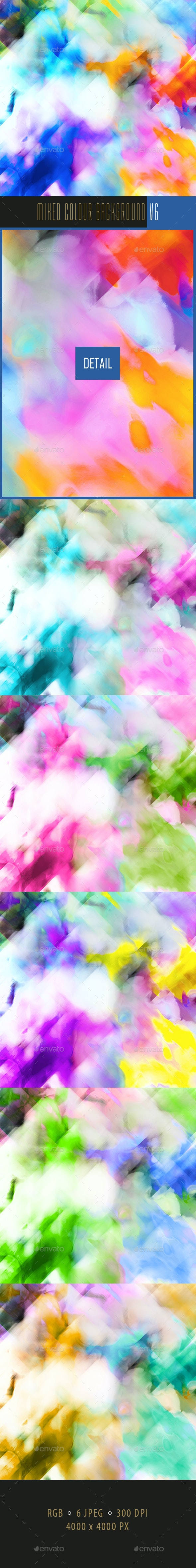 Mixed Colour Background v6 - Abstract Backgrounds