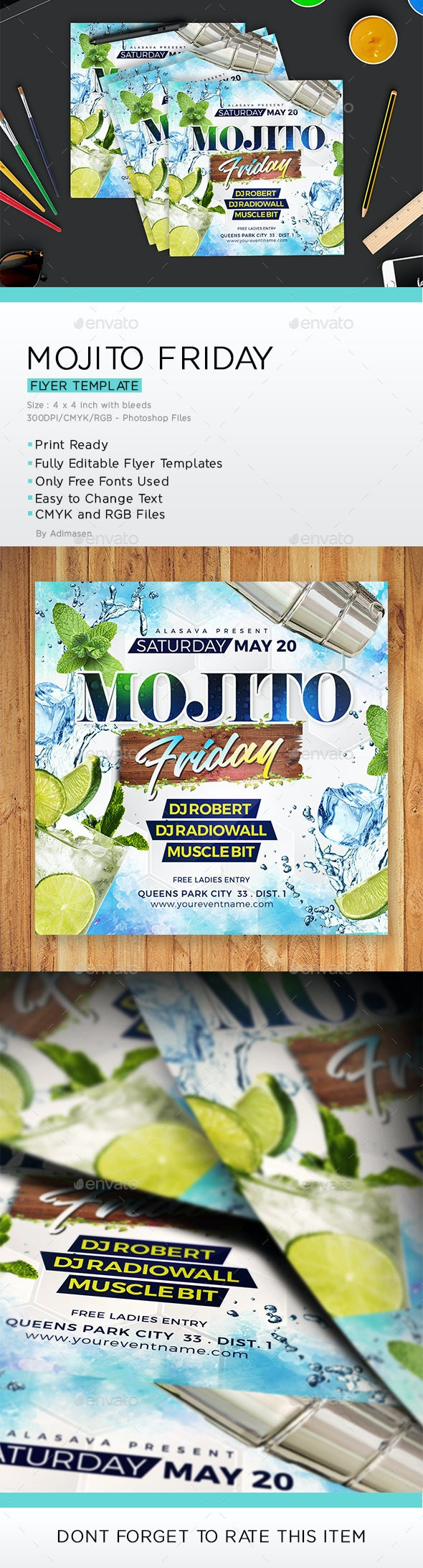 Mojito Friday Flyer - Events Flyers