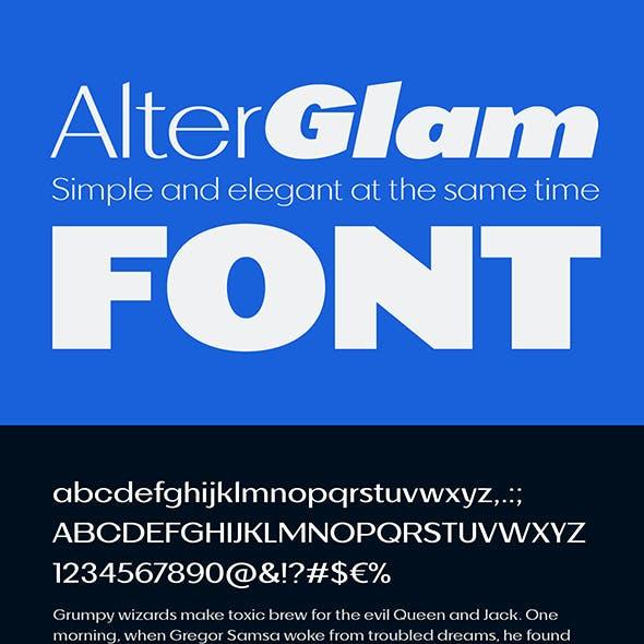 AlterGlam Elegant Extended Font