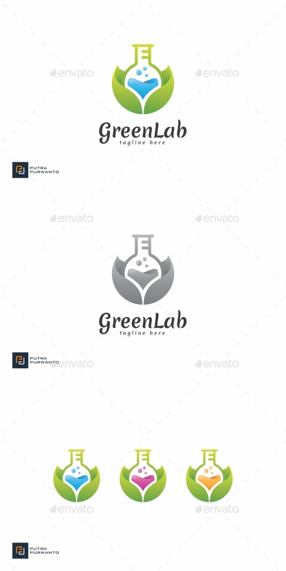 Green Lab - Logo Template - Nature Logo Templates