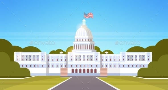 White House Washington DC United States of America - Buildings Objects