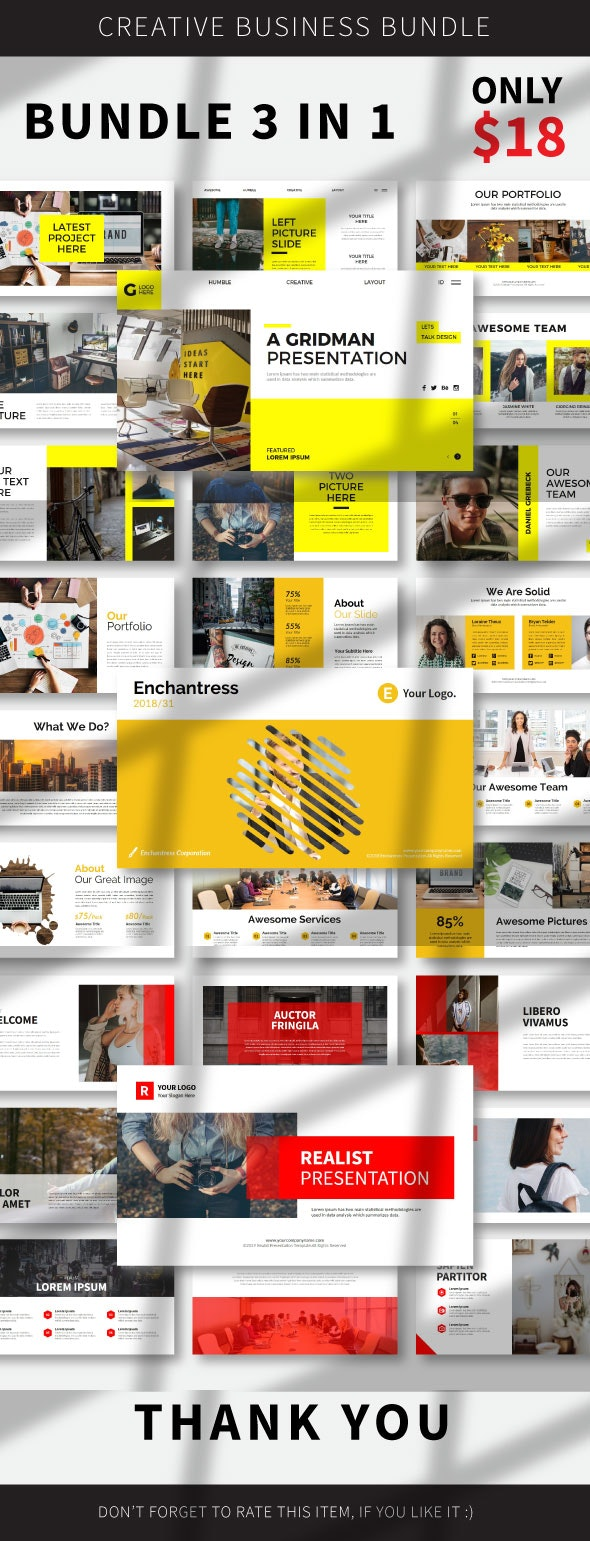 3 In 1 Bundle Google Slide - Google Slides Presentation Templates