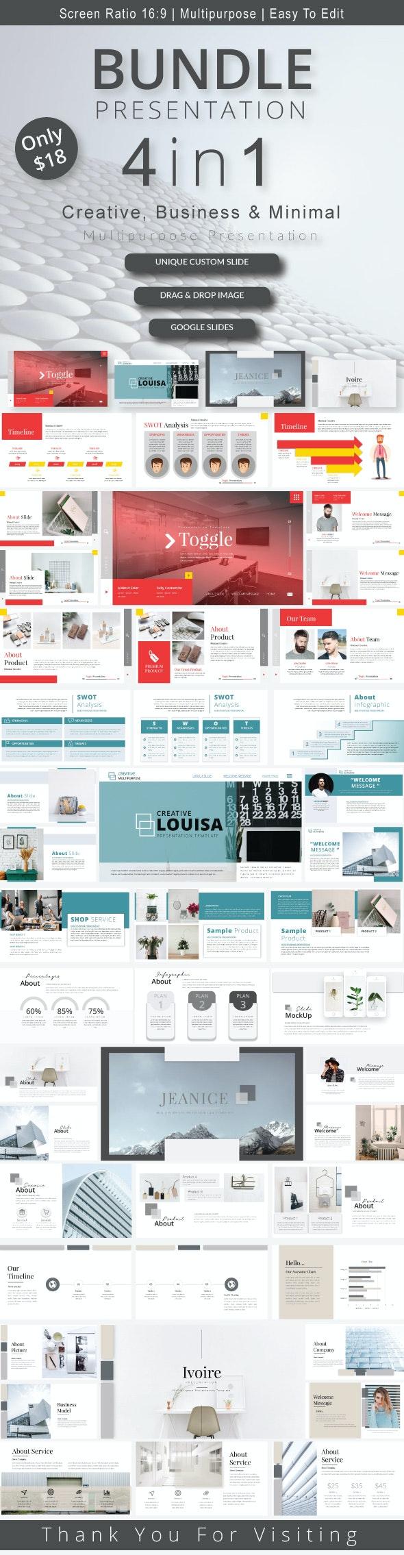4in1 Bundle Google Slides - Google Slides Presentation Templates