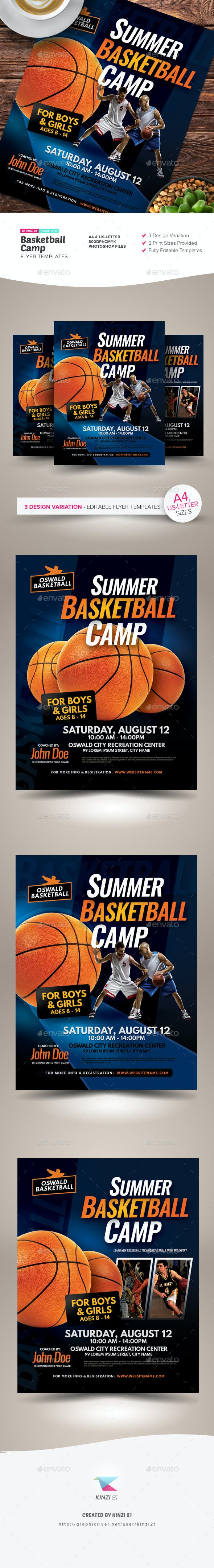 Basketball Camp Flyer Templates Sports Events