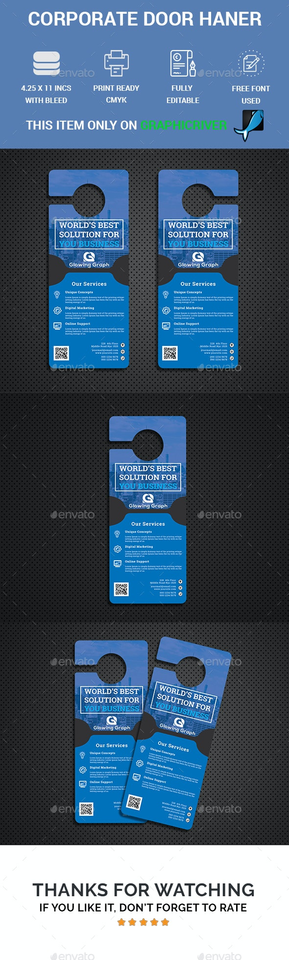 Corporate Door Hanger - Miscellaneous Print