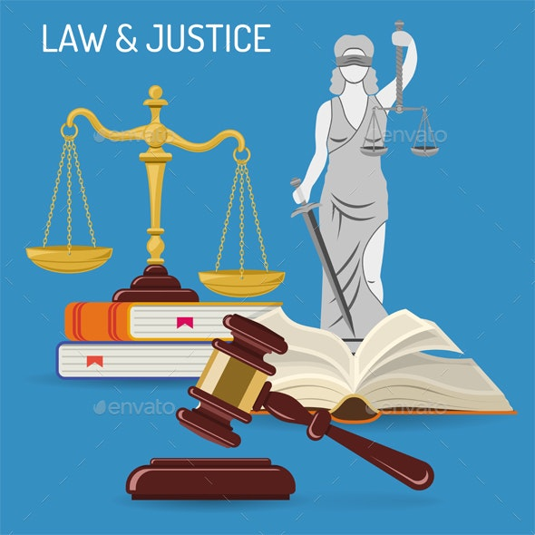 Law and Justice Concept - Miscellaneous Vectors