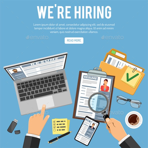 Online Employment and Hiring Concept - Concepts Business