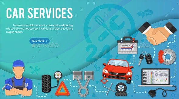 Car Services Banner - Services Commercial / Shopping