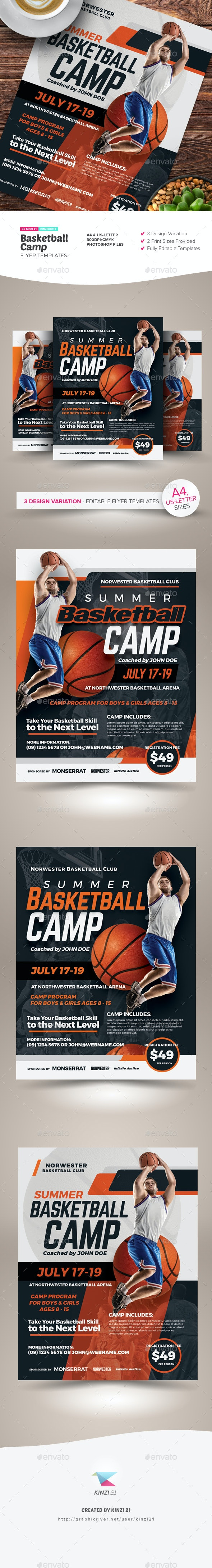 Basketball Camp Flyer Templates - Sports Events