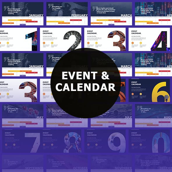 Event & Calendar Powerpoint Template