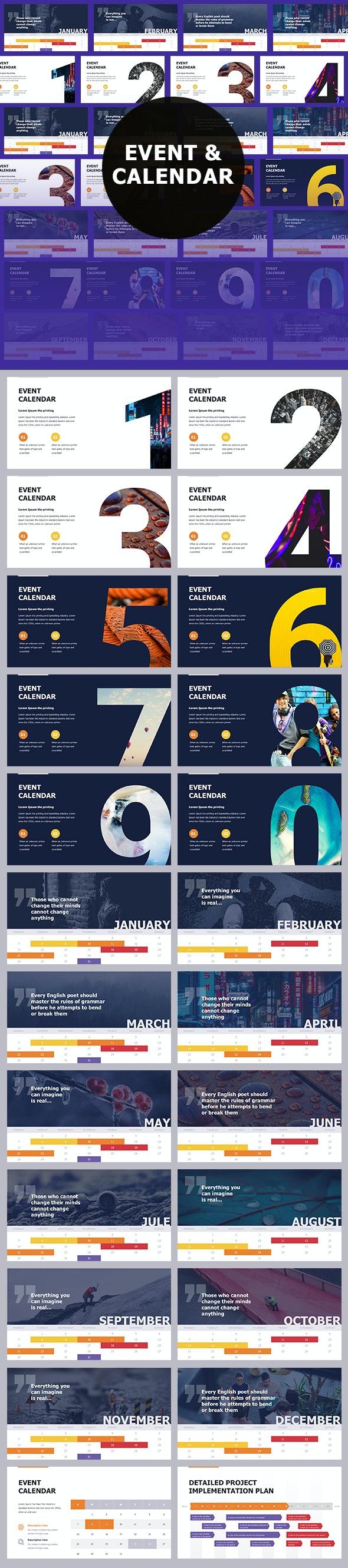 Event & Calendar Keynote Themes - Creative Keynote Templates
