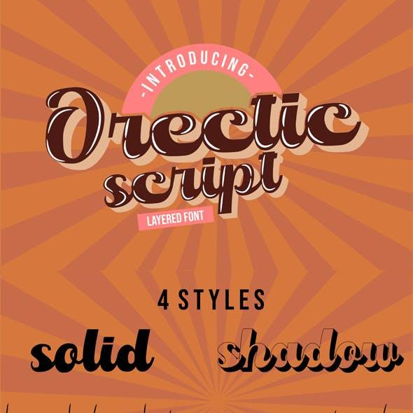 Orectic Script - Layered Fonts