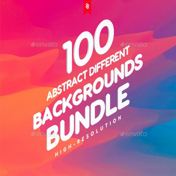 100 Different Multi-Purpose Abstract Backgrounds Bundle