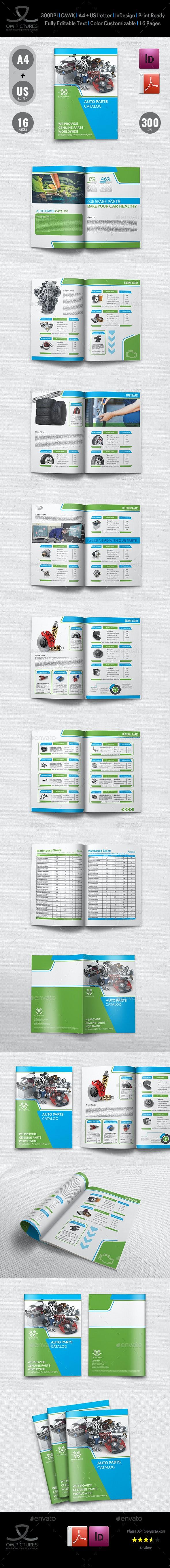 Auto Parts Catalog Brochure Template Vol.3 - 16 Pages - Catalogs Brochures
