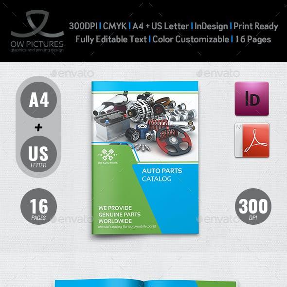Auto Parts Catalog Brochure Template Vol.3 - 16 Pages