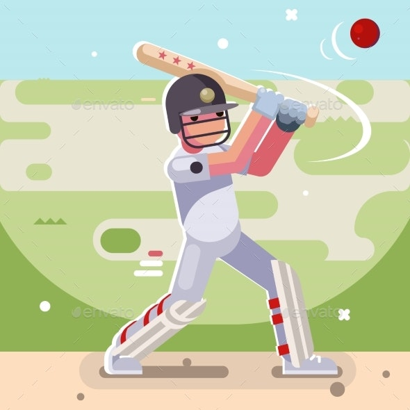 Cricket Batsman - People Characters