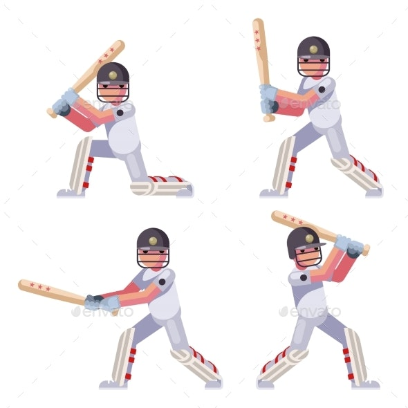 Cricket Batsman - People Characters
