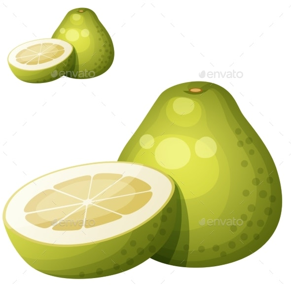 Pomelo Fruit - Food Objects