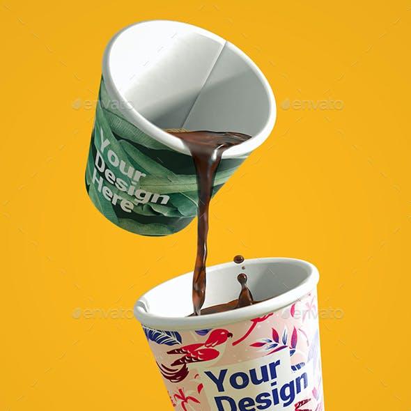 Coffee Cups Branding  Mockup