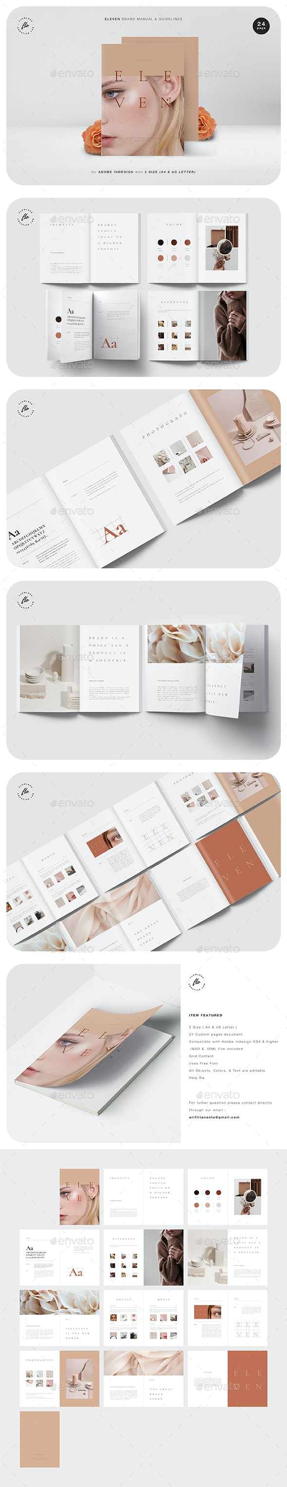 Eleven Brand Manual & Guidelines - Magazines Print Templates