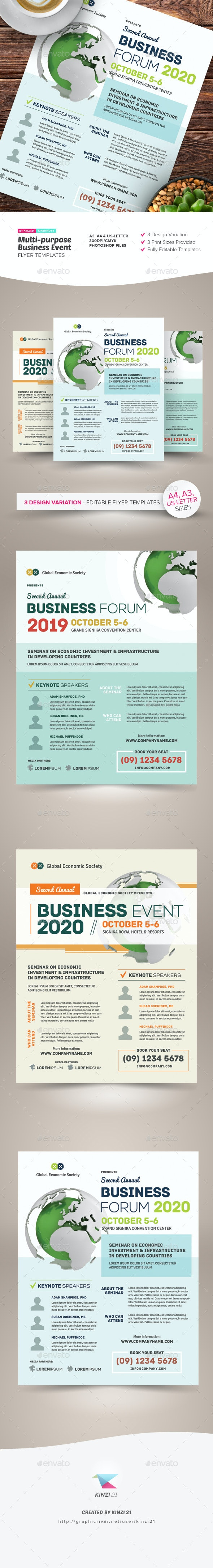 Multi-purpose Business Event Flyer & Poster Templates - Corporate Flyers