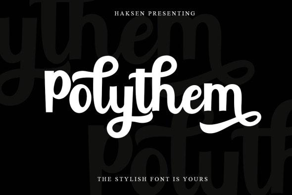 Polythem Bold Classy - Calligraphy Script