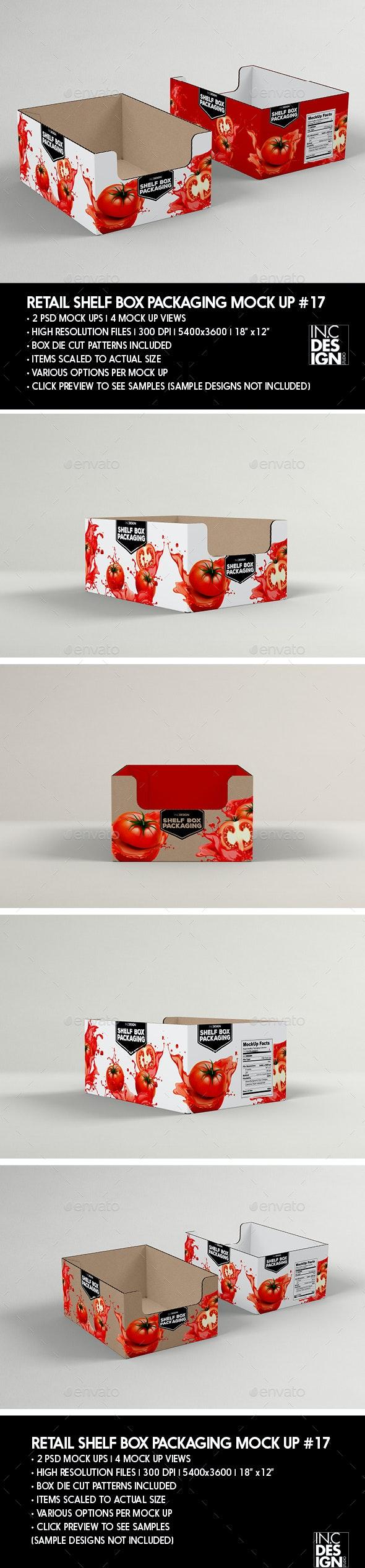 Retail Shelf Box Packaging MockUp No.17 - Packaging Product Mock-Ups