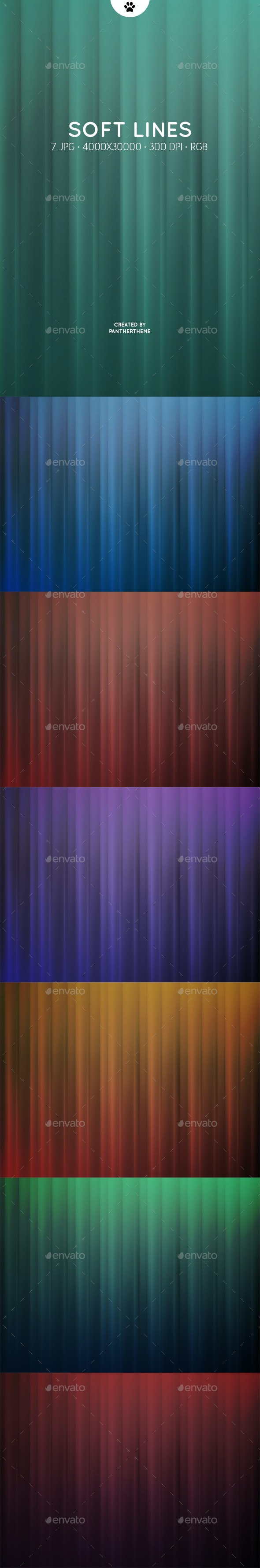 Soft Gradient Lines - Abstract Backgrounds