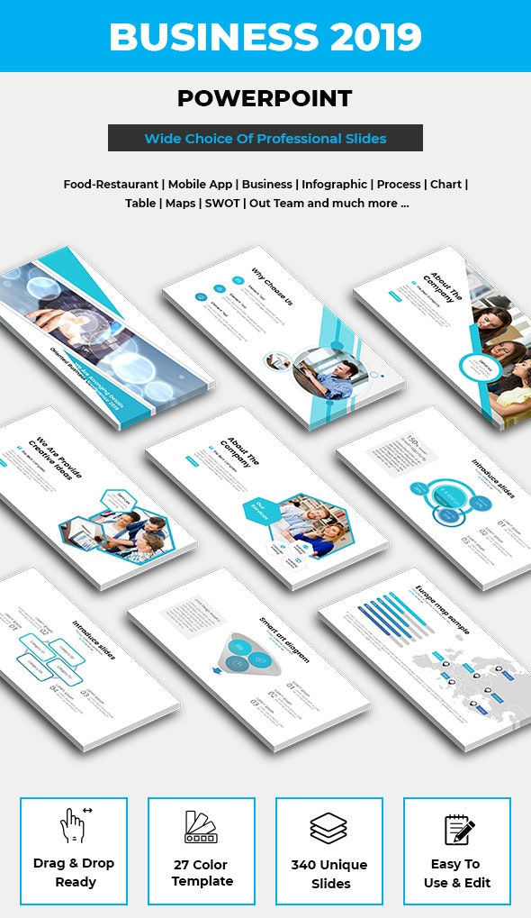 Business Professional Powerpoint Template 2019 Bundle - PowerPoint Templates Presentation Templates
