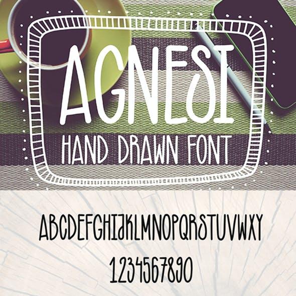 Agnesi Hand Drawn Font