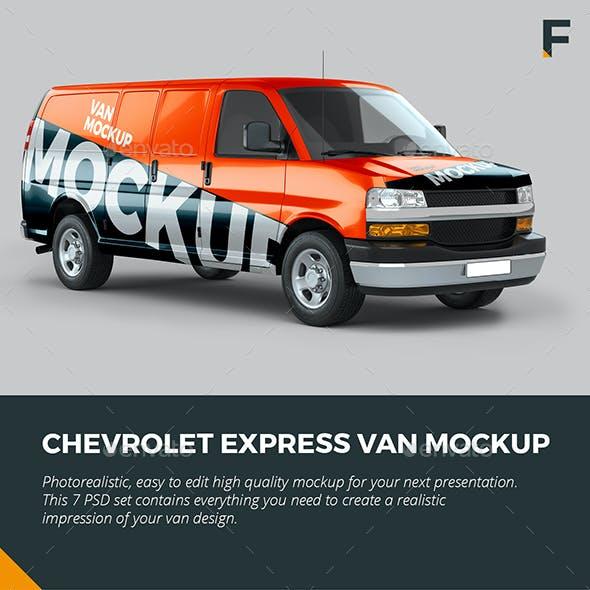 Chevrolet Express Van Mockup