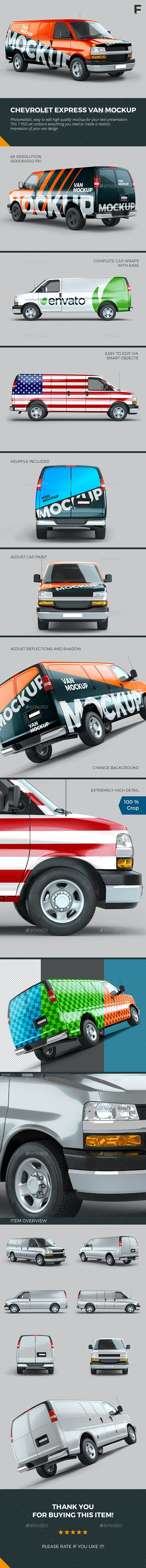 Chevrolet Express Van Mockup - Vehicle Wraps Print