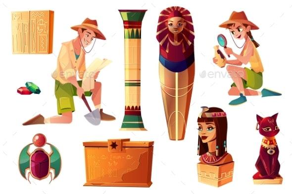 Vector Egyptian Set - Miscellaneous Vectors