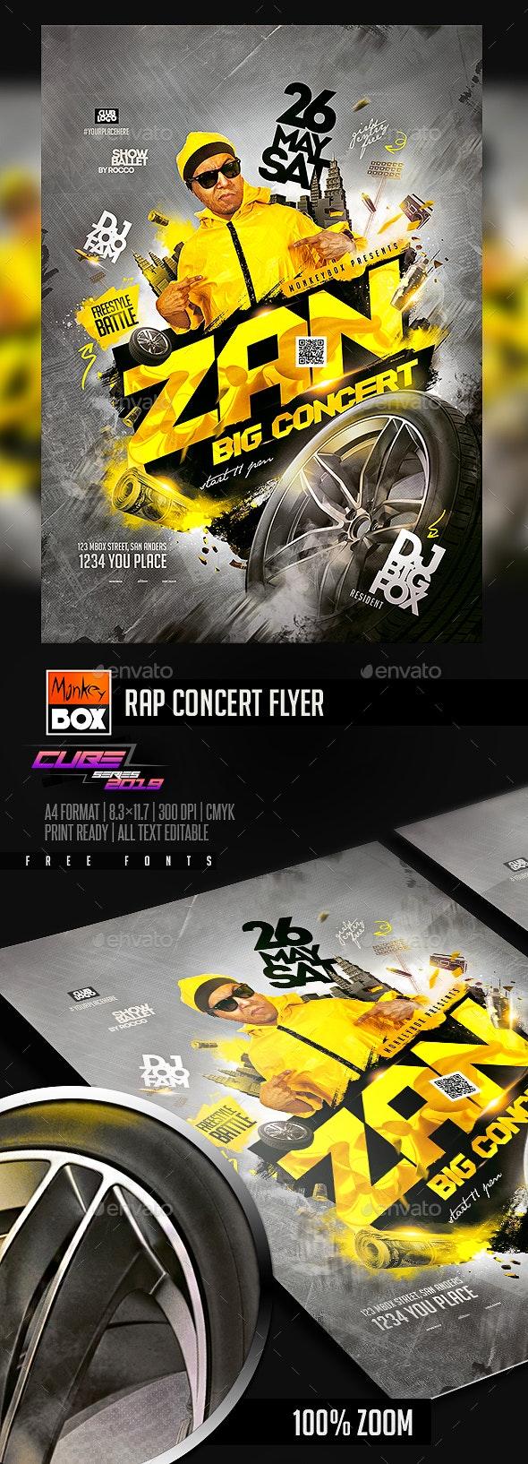 Rap Concert Flyer - Clubs & Parties Events