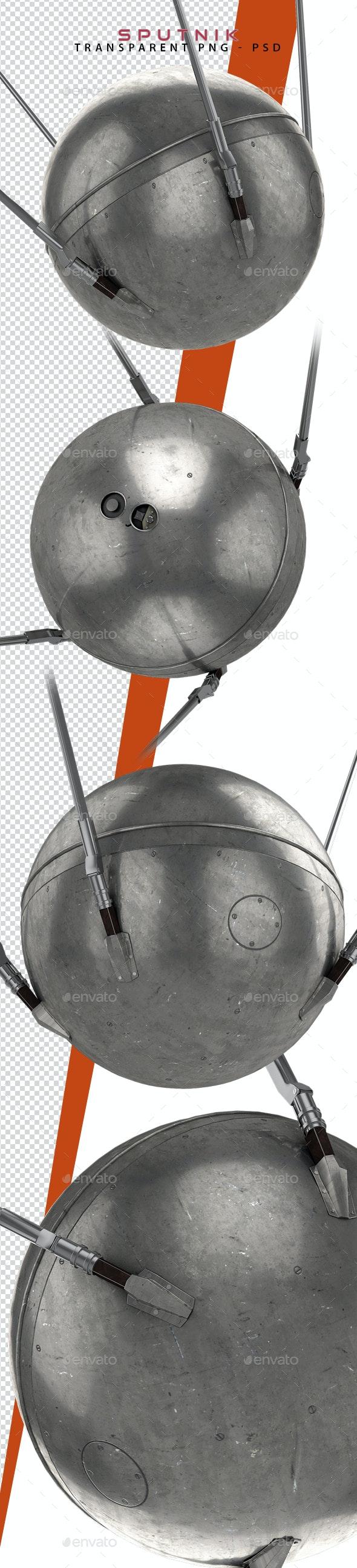 Sputnik Satellite 3D Renders - Objects 3D Renders