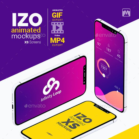 IZO Animated Mockups-XS Screens