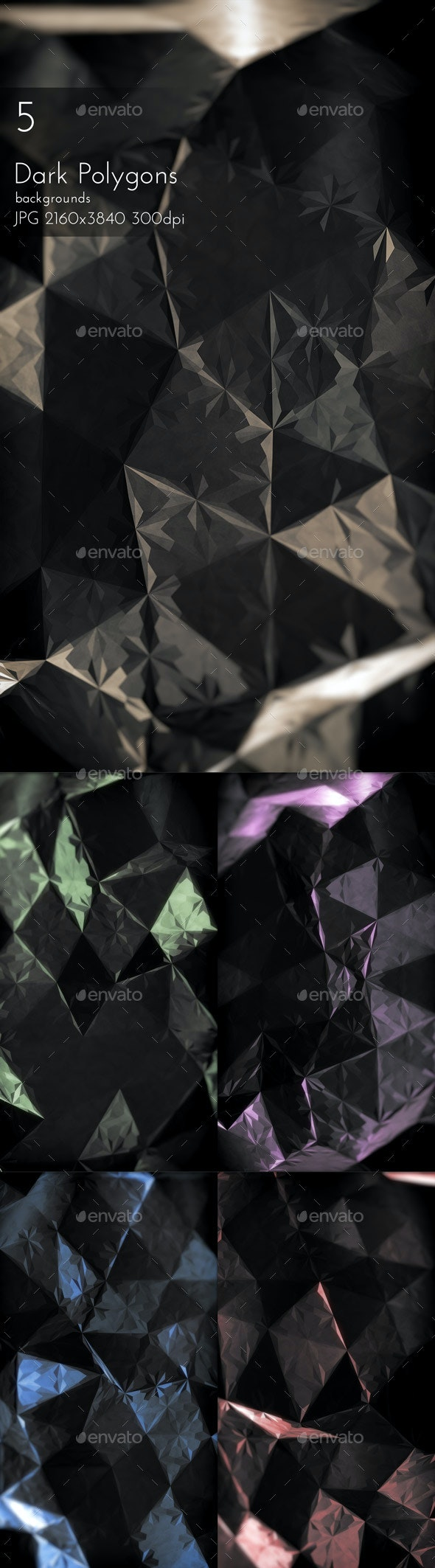 Dark Polygons - Abstract Backgrounds