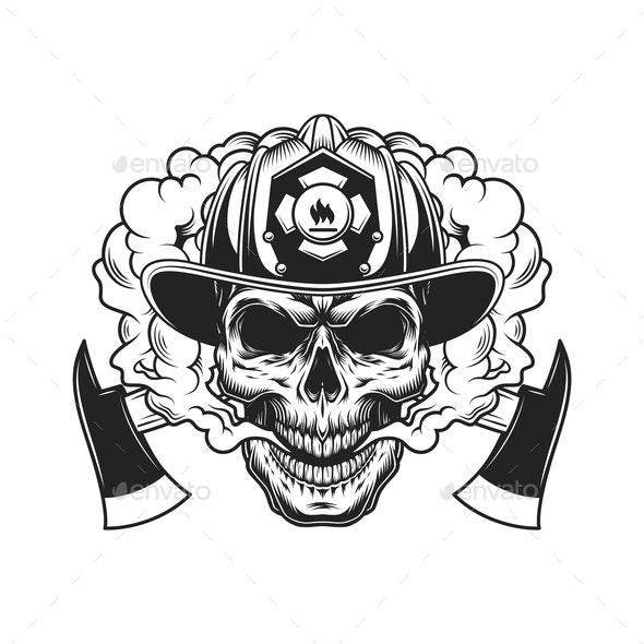 Firefighter Skull - Miscellaneous Vectors