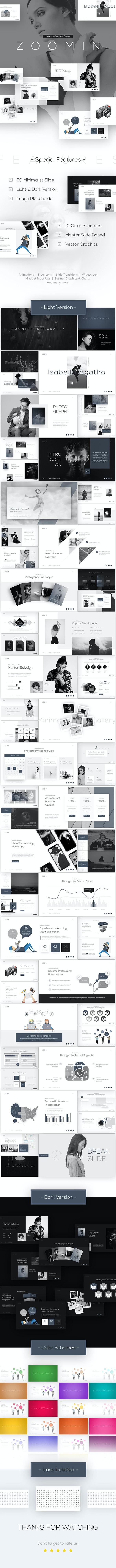 Zoomin Portfolio & Photography PowerPoint Template - PowerPoint Templates Presentation Templates
