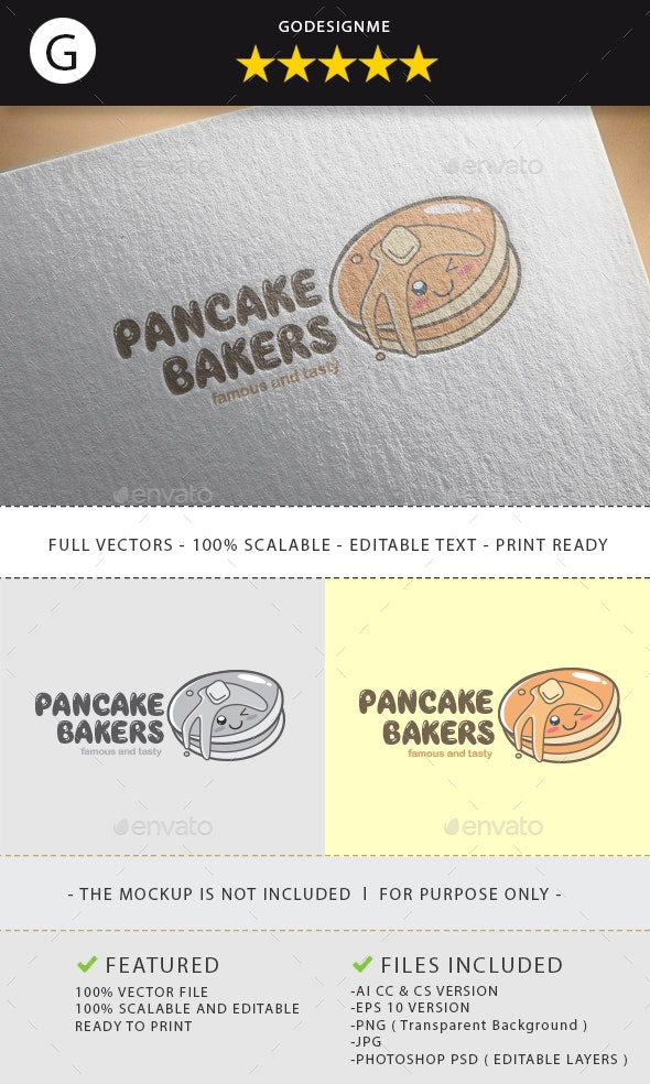 Pancake Bakers Logo Design - Vector Abstract