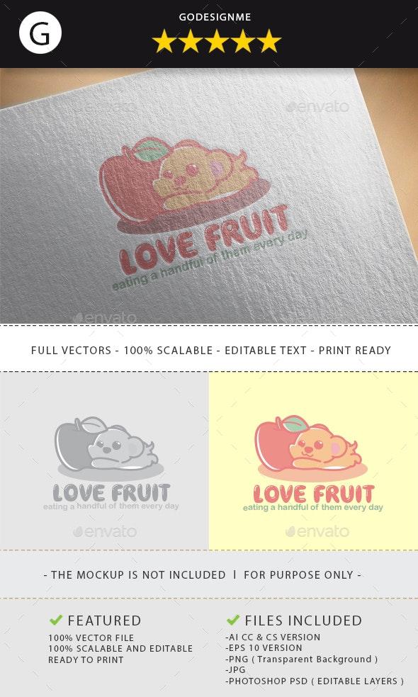 Love Fruit Logo Design - Vector Abstract