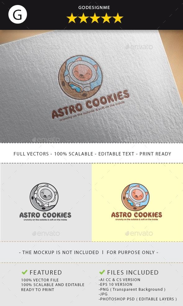 Astro Cookies Logo Design - Vector Abstract