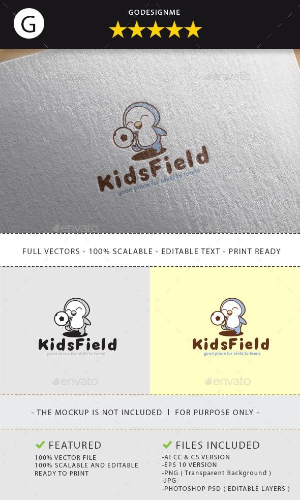 Kids Field Logo Design - Vector Abstract