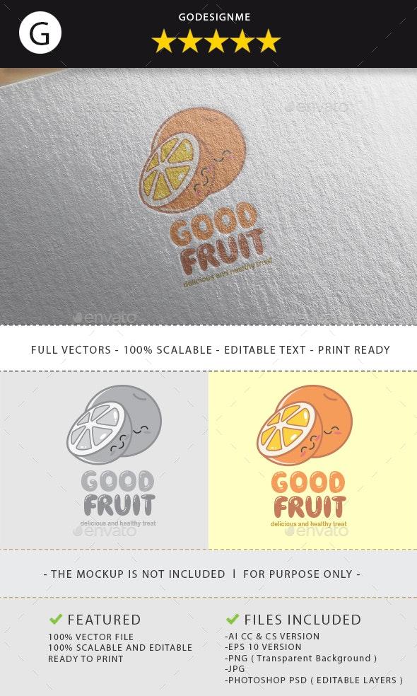 Good Fruit Logo Design - Vector Abstract