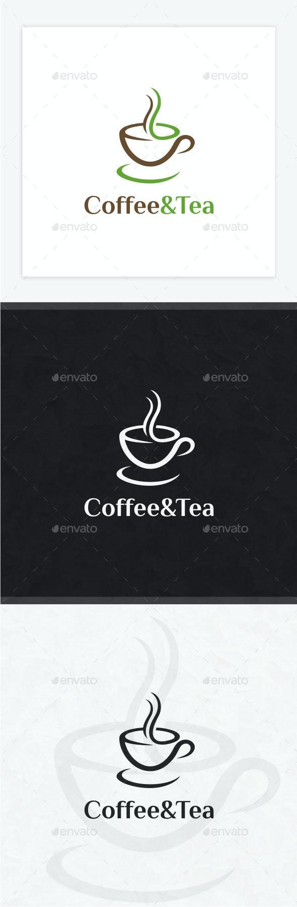 Coffee and Tea Logo - Food Logo Templates