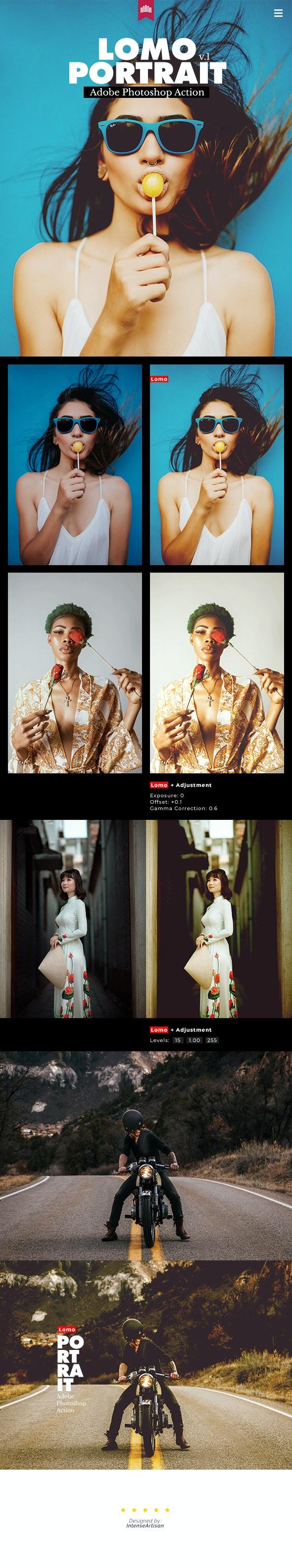 Lomo Portrait Action - Photo Effects Actions