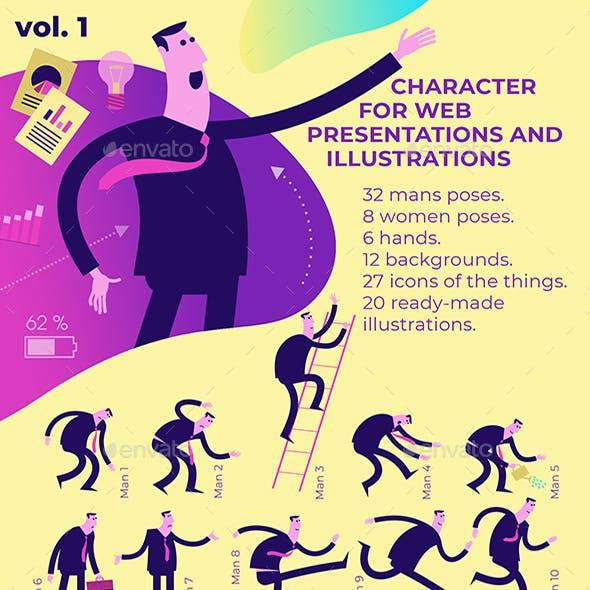 20 Illustrations for Presentation Character