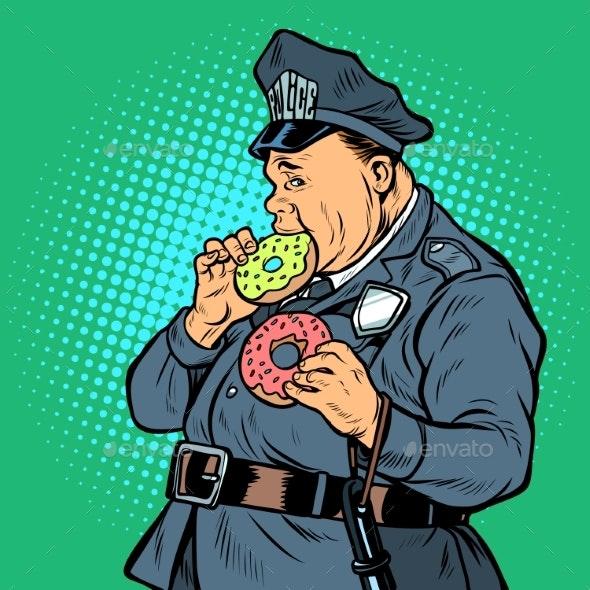 Cop Eats Donut - Food Objects